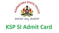 Karnataka State Police Admit Card 2017