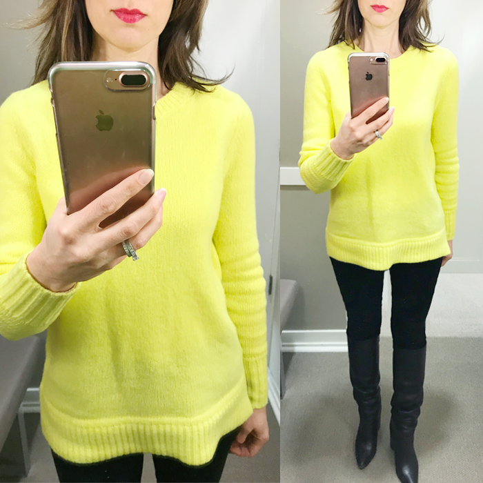 yellow dayglow sweater