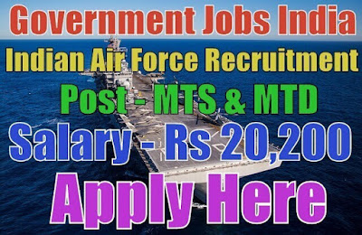 Indian Air Force IAF Recruitment 2017