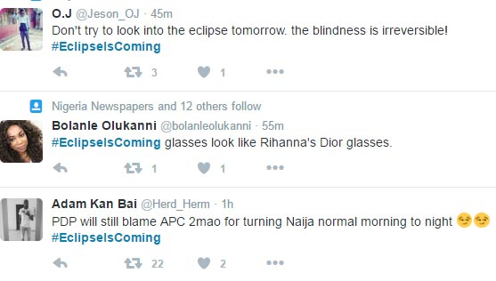 #EclipseIsComing: Nigerians react to Thursday-expected annular eclipse