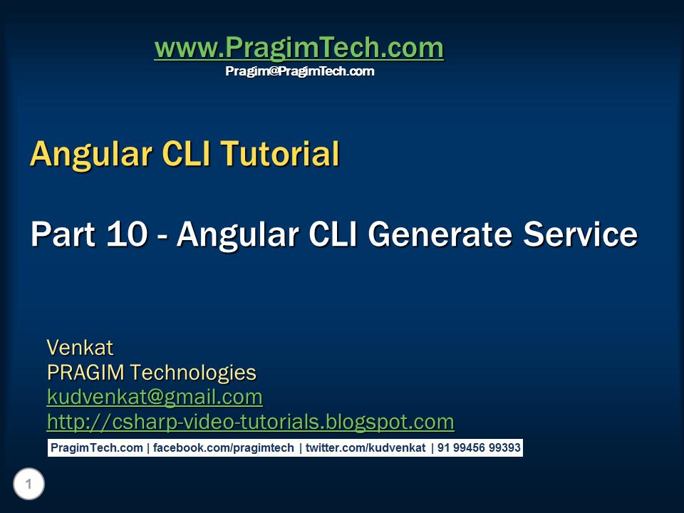 angular cli service