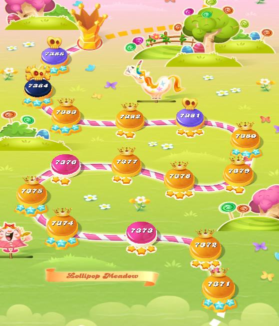 Candy Crush Saga level 7371-7385