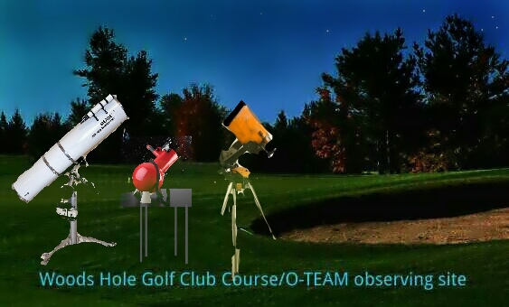 Telescopes used by the O-Team on The Woods Hole Golf Course - Illustration by Dale Alan Bryant.