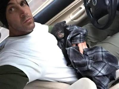 رجل يخاطر بحياته لإنقاذ صغير الدب