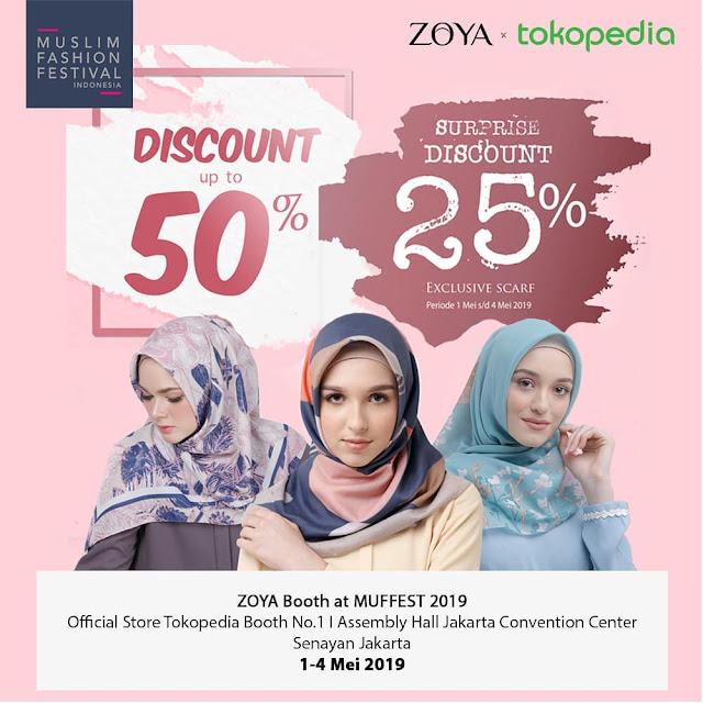 #Zoya - #Promo Diskon Hingga 50% & Surprise Diskon 25% di MUFFEST 2019 (s.d 04 Mei 2019)