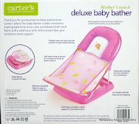 2 Carter's Mother's Touch #07360 Deluxe Baby Bather with Removable Head Support Cushion