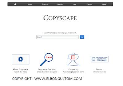 Copyscape tools pencari konten duplikat