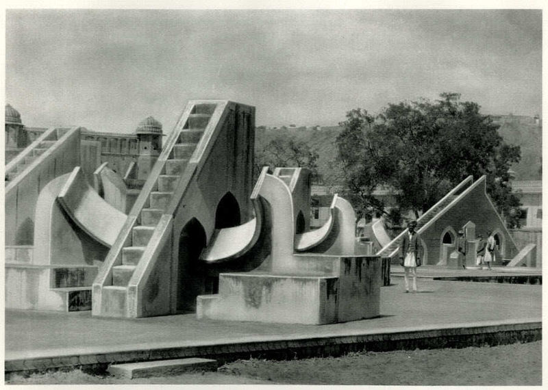 Jantar Mantar (Astronomical Instruments) in the Observatory at Jaipur, India - 1928