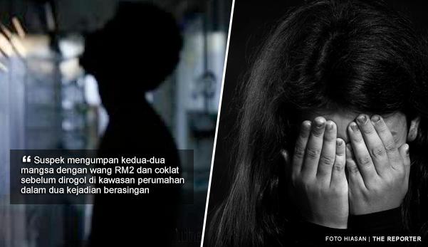 2 kanak-kanak diumpan dengan RM2 dan coklat sebelum dirogol jiran durjana