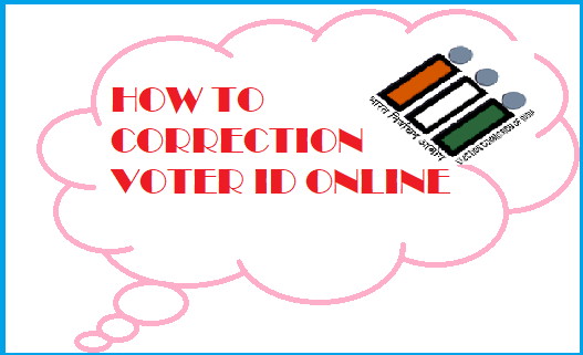 how to correction name in voter list