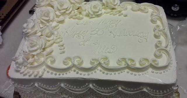 Leah S Crazy Cake Lab Elegant Anniversary Sheet Cake