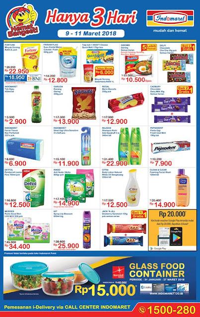 Katalog Promo INDOMARET JSM Akhir Pekan Periode 09 - 11 Maret 2018