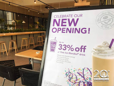 The Coffee Bean & Tea Leaf Ice Blended Beverage Discount Offer Opening Promo