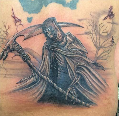 grim reaper tattoos azrail dövmeleri