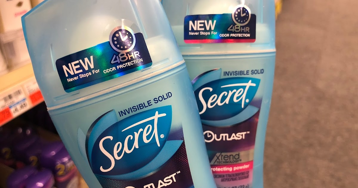 Walgreens Secret Outlast Deodorant 37 Cents Each Usually