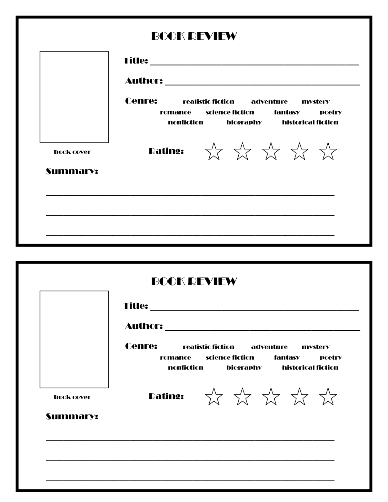 SERENITY AND SERENDIPITY: Book Review Template