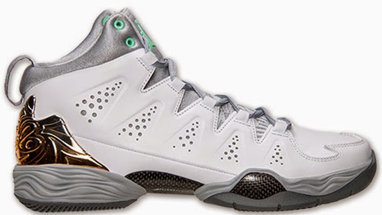 39756d1f8eb ajordanxi Your  1 Source For Sneaker Release Dates  Jordan Melo M10 White Green  Glow-Wolf Grey May 2014