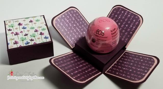 #eoslipbalmgiftbox, #stampinup, #frostedfloraldesignerseriespaper #stockingstuffer
