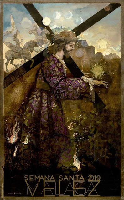 Cartel de la Semana Santa de Vélez-Málaga, obra de Jesús Zurita