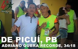 Atleta de Picuí vence corrida no RN e quebra recorde da prova