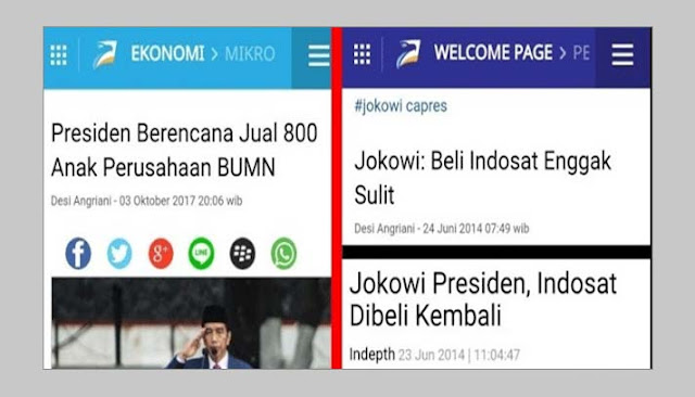 Janji Beli Indosat, Jokowi Malah Mau Jual 800 Anak Perusahaan BUMN