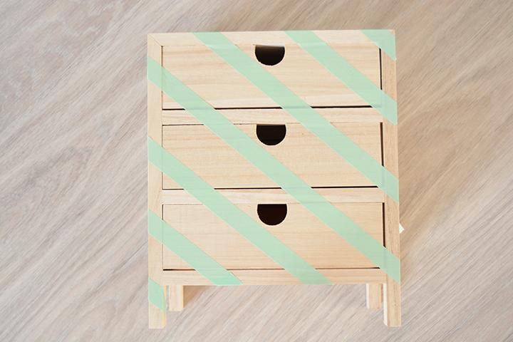 étape 1 diy customisation rangement tiroirs