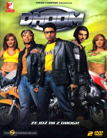 Poster Of Dhoom 2004 Hindi  300MB  720p  HEVC Watch Online Free Download worldfree4uk.com