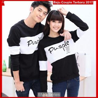 BA17 Baju Couple Pusple HP Model Couple Cinta BShop