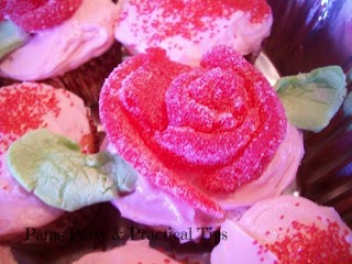 Flower Cupcakes with Taffy Petals