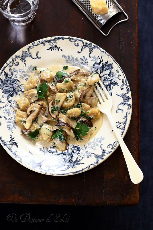Gnocchi sauce aux cèpes
