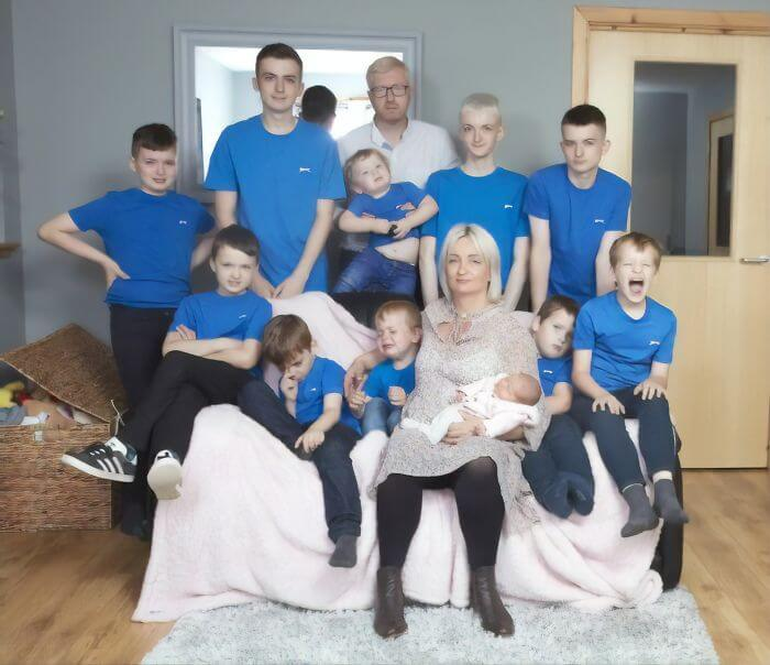 After Having 10 Baby Boys In A Row, This Mom Finally Gave Birth To A Girl
