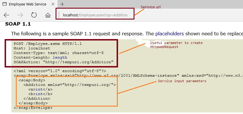 Calling Web Service Using SOAP Request without WSDL And