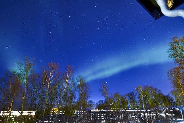 Aurora desde el balcón - Tromso, Noruega por El Guisante Verde Project