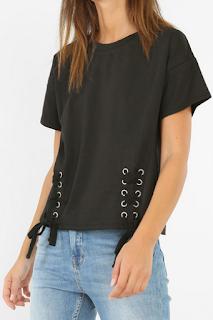 T-shirt à lacets - PIMKIE
