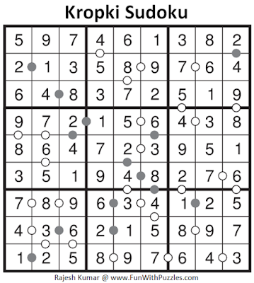 Kropki Sudoku (Fun With Sudoku #114) Solution