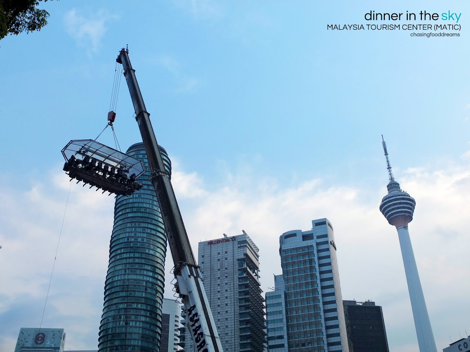 CHASING FOOD DREAMS: Dinner In The Sky @ Malaysia Tourism Center (MATIC)