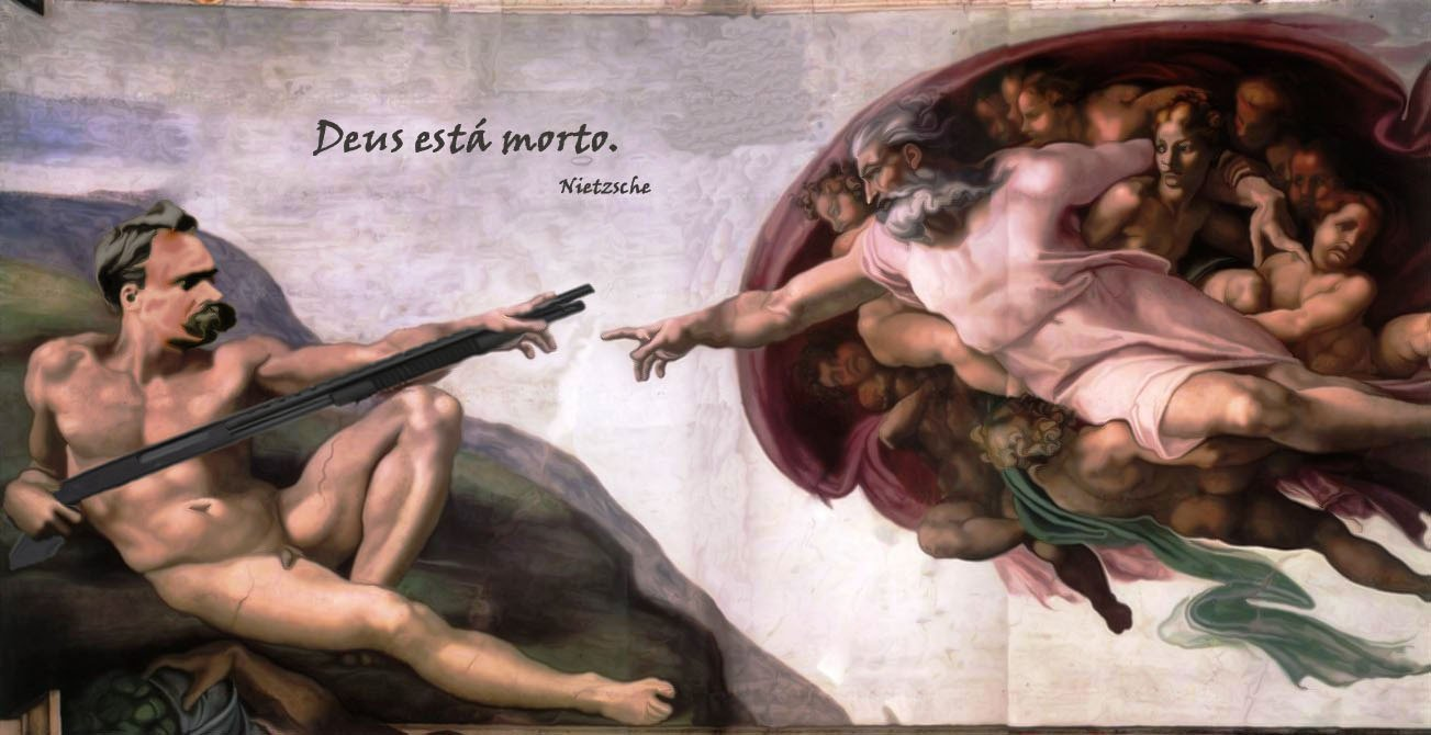 Montagem com Nietzsche contra Deus