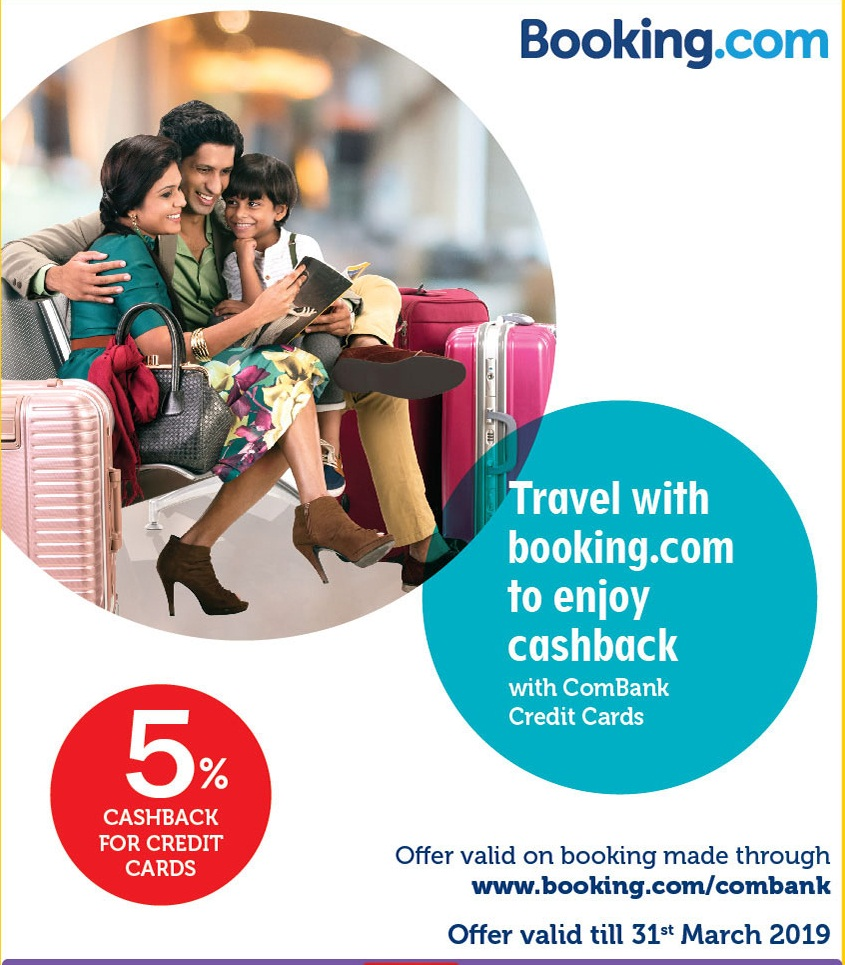 Travel with booking.com to enjoy cashback with ComBank Credit Cards.