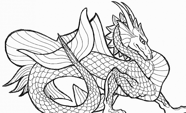 Related Dragon Coloring Pages Item  Dragon Coloring Pages