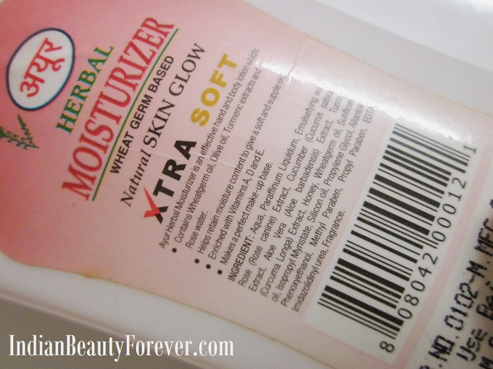 Review Ayur Herbal Moisturizer with wheatgerm oil