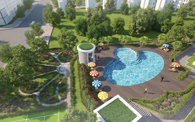 Cảnh quan tiện ích dự án Iris Garden