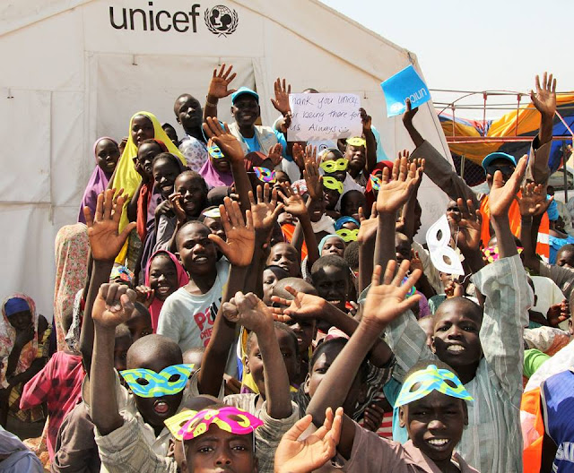 """Fun Day"" for children at Dalori camp for people who have been displaced because of the Boko Haram violence in northeast Nigeria."