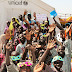 """""""Fun Day"""" for children at Dalori camp for people who have been displaced because of the Boko Haram violence in northeast Nigeria."""
