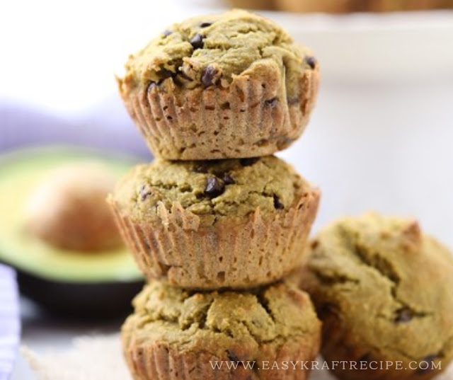 HEALTHY CHOCOLATE CHIP AVOCADO MUFFINS