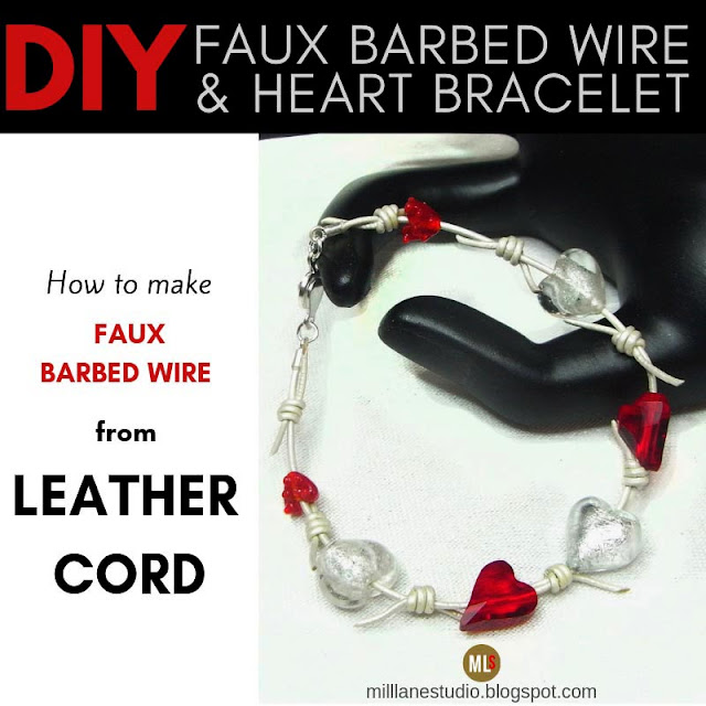 How to make faux barbed wire from leather cord project header
