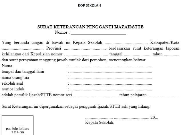 Hasil gambar untuk surat pengganti ijazah yang hilang