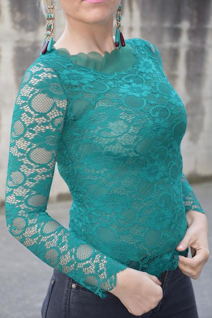 outfit maglia pizzo verde come abbinare una maglia in pizzo abbinamenti maglia pizzo mariafelicia magno fashion blogger colorblock by felym fashion blogger italiane blog di moda outfit primaverili outfit marzo 2017