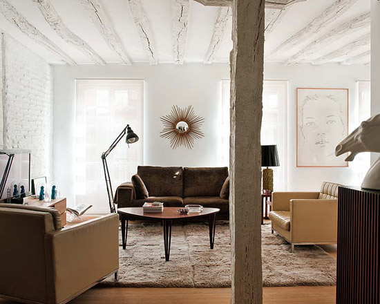 Noir blanc un style for Decoracion techos madera interior