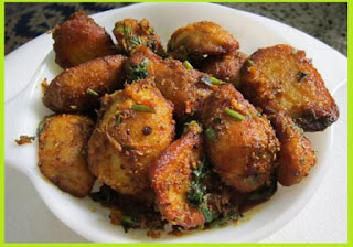 Fried Arvi Recipe