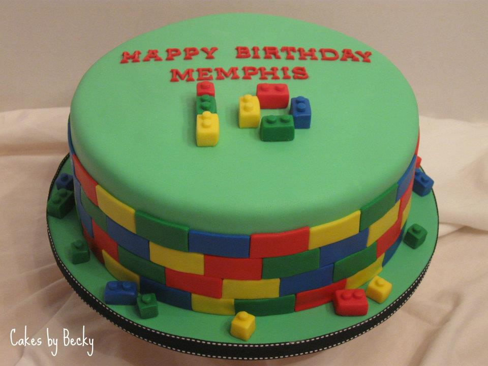 Fun Cake For A Lego Themed Birthday Party Chocolate With Oreo Buttercream Filling Covered In Fondant All Details